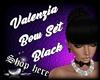 Valenzia Bow Set Black