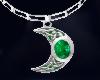 Celtic moon Emerald
