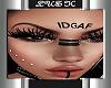 IDGAF FACE TATT/PIERCI