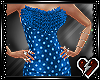 S Blue Top Ruffle dress