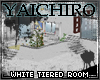 White Tiered Room