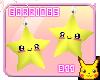 [911]wish star earrings