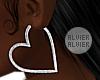 C | Silver Heart Hoops
