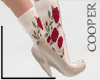 !A slippers + flower
