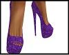 purple glitter heels