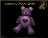Fuzzy love Bear Purple