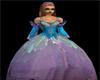 Purple blue fairy dress