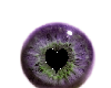 heart eyepurple green