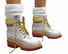 kid white gold boots