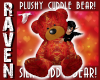 GLD & RD SILK TEDDY BEAR