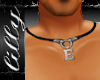 leather necklace E