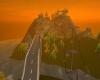 Romantic Mountain Sunset