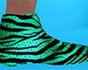 Tiger Stripe Slippers M