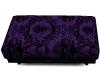 Purple Velvet Ottoman