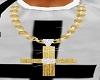 Gold Cruz Necklace
