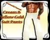 Cream&yllw Gold Suitpant