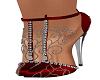 Red Esme Heels