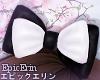 [E]*Black/White Hair Bow