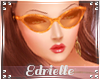 E~ 70's Orange Glasses