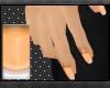French Manicure Orange