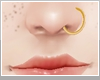 ♡gold nose ring♡