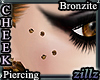 [zllz]Cheek Piercing Brn