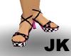 pink emo heels