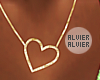 C | Gold Heart Necklace
