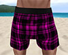 Pink PJ Shorts Plaid (M)