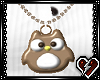 S Animated Owl ncklce