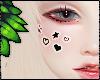 ダ. face stickers blk
