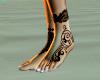 tattoed bare small feet