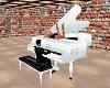 Glossy White Piano/Radio