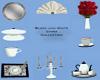 B&W China Dinner Set