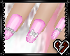 T Pink PearlnBow nails