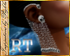 I~Diam. Skull Earring*Rt