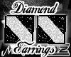 BLK WHT DIAMOND EARRINGS