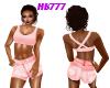 HB777 Shorts Set Blush