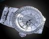 Silver Diamond Watch