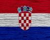 Croatia Flag On Wood