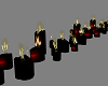 !! Black Red Candles