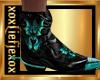 [L] DRAGON Teal Boots M
