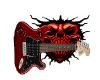 Skulls and guitar sign