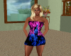 Pink & Blue Dress Black
