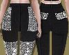Metallic Pockets Pants
