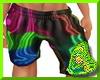 Neon Baggy Shorts M