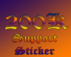 200k Support Sticker