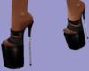 Vix- Denim Heels Black