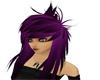Lila Haare mit stränen