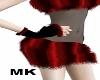 ! red Fur Glove MK